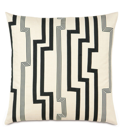 Eastern Accents - Folly Parchment Pillow With Graphic Trims - ABR-07