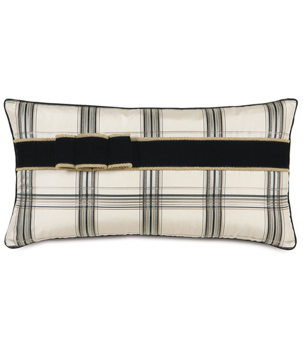 Image of Beckett Ink Pillow With Ribbon