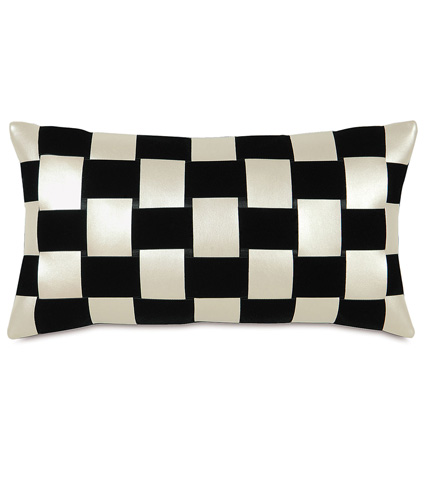Image of Klein Shell Ribbon Weave Pillow