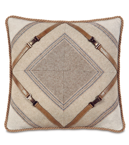 Image of Ashbrooke Wheat Mitered Pillow
