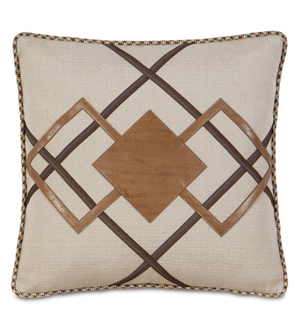 Image of Dorian Saddle Diamond Inserts Pillow
