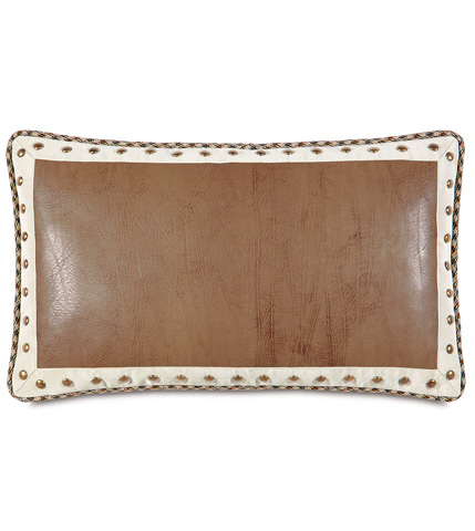 Image of Dorian Saddle Pillow with Border