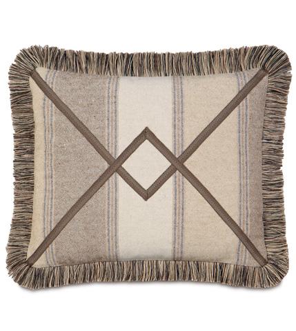 Image of Ashbrooke Wheat Pillow with Brush Fringe