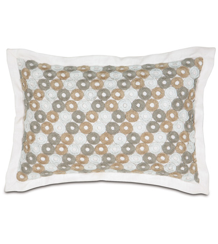 Image of Breeze White Pillow with Mitered Flange