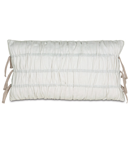 Image of Breeze White Ruched Pillow