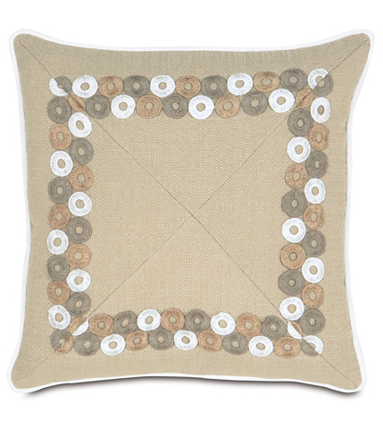 Eastern Accents - Vivo Bisque Mitered Pillow - AIL-07