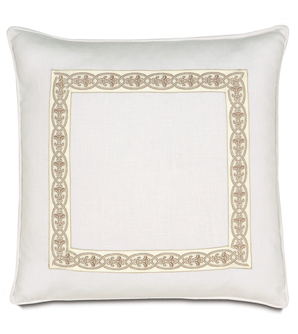 Eastern Accents - Breeze White Pillow with Border - AIL-08