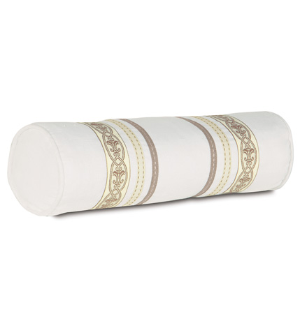 Image of Breeze White Neckroll Pillow