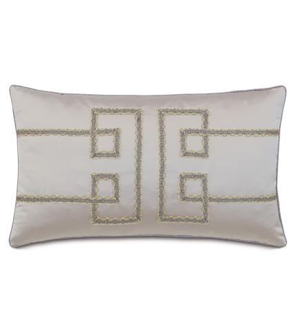 Image of Daza Mink Pillow with Geometric Design