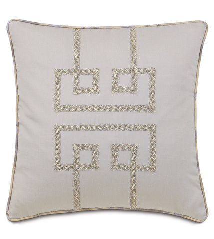 Image of Mack Heather Pillow with Geometric Design