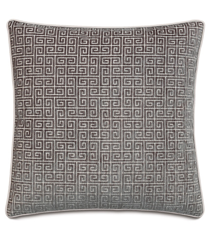 Image of Murano Taupe Pillow with Small Welt