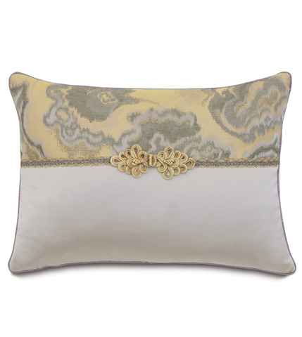 Image of Daza Mink Pillow with Frog Tie