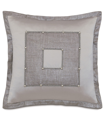 Image of Reflection Taupe Pillow with Square Insert