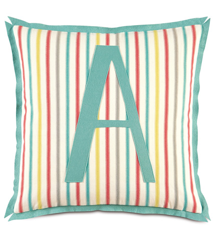 Image of Afton Sherbert Pillow With Monogram