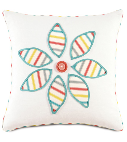 Image of Afton Sherbert Flower Pillow