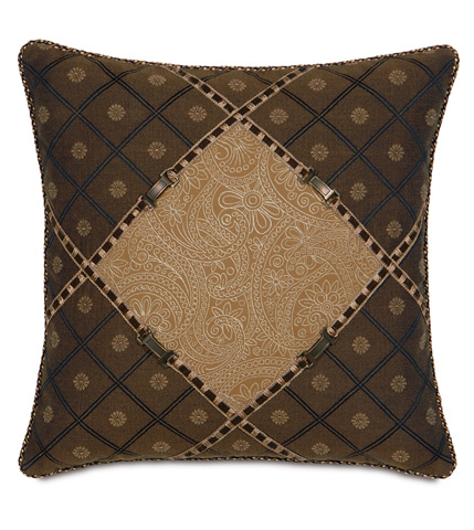 Image of Leinster Caramel Diamond Pillow