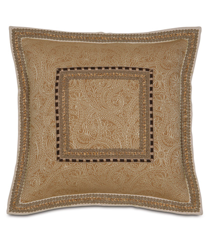 Eastern Accents - Leinster Caramel Pillow with Flange - AST-05
