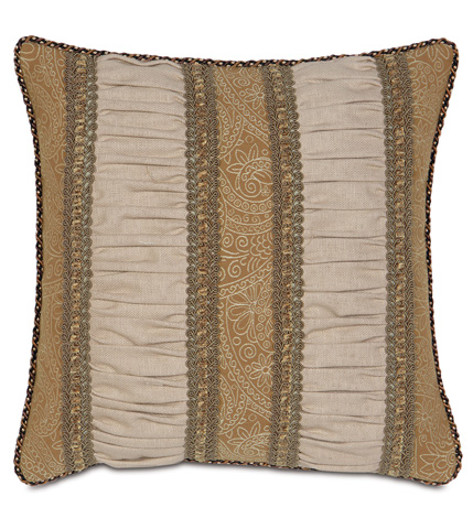 Image of Filly Stone Ruched Insert Pillow