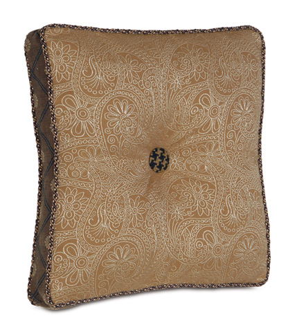 Image of Leinster Caramel Boxed and Tufted Pillow