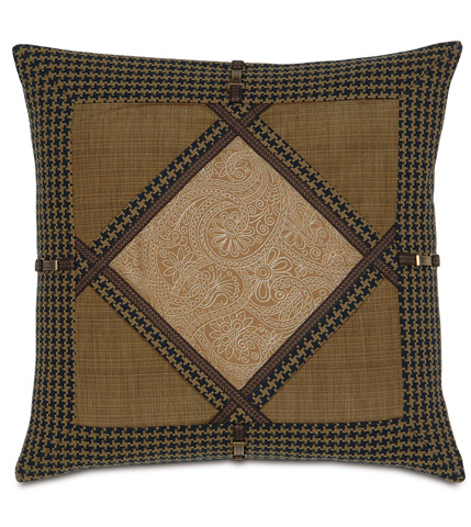 Image of Leinster Caramel Diamond Collage Pillow
