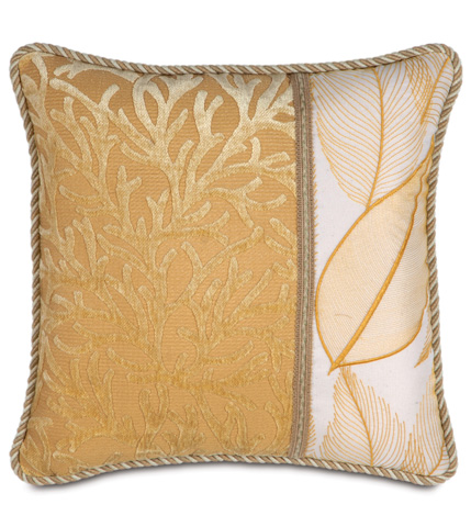 Image of Augustine Gold Pillow with Collier