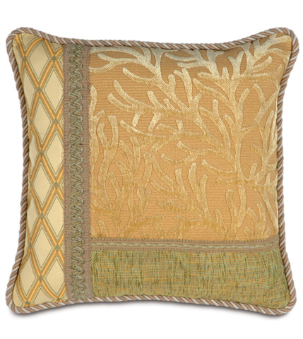Image of Augustine Gold Collage Pillow