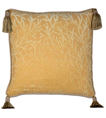 Image of Augustine Gold Pillow with Tassels