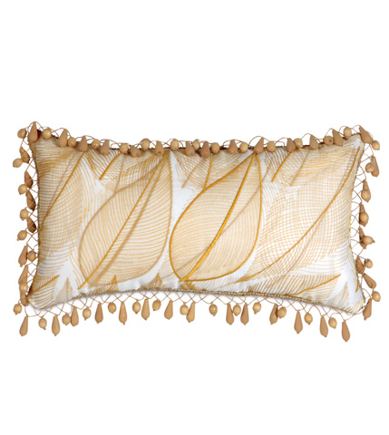 Image of Collier Sunshine Pillow with Beaded Trim