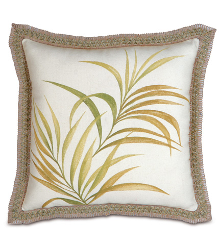 Image of Antigua Hand-Painted Pillow