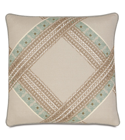 Image of Vivo Bisque Diamond Pillow