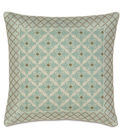 Eastern Accents - Arlo Ice Pillow with Mitered Border - AVI-09