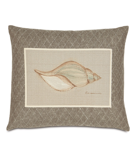 Image of Hand-Painted Shell Pillow