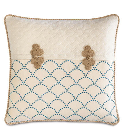 Image of Brooklyn Lapis Pillow with Frogs