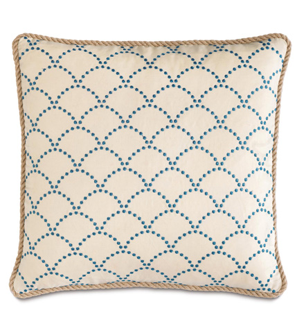 Eastern Accents - Brooklyn Lapis Pillow with Cord - BDU-07