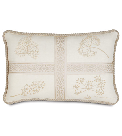 Image of Hand-Painted Brookfield  Pillow with Cord