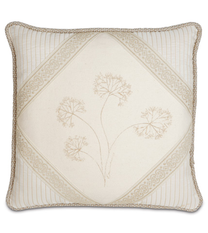 Image of Hand-Painted Brookfield Diamond Pillow