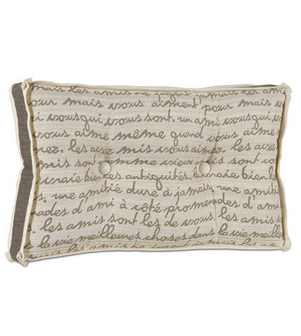 Image of Grenoble Smoke Boxed and Tufted Pillow