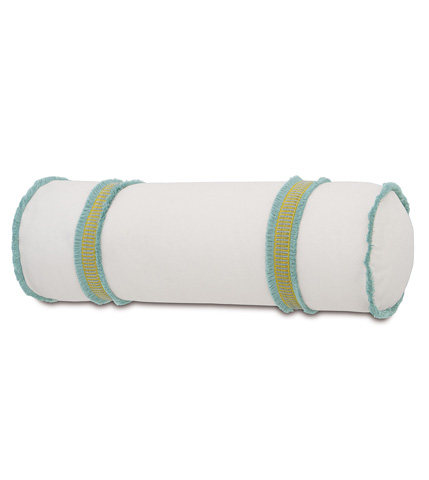 Eastern Accents - Filly White Bolster - BOL-388