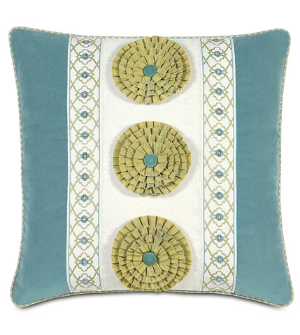 Image of Filly White Insert Pillow with Rosettes