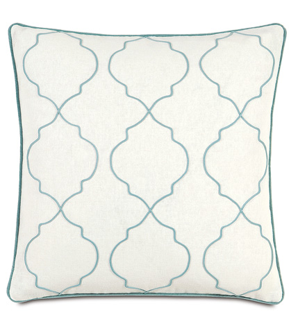 Eastern Accents - Filly White  Pillow with Small Welt - BRS-05