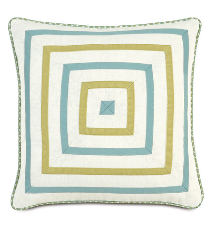 Image of Filly White Mitered Pillow