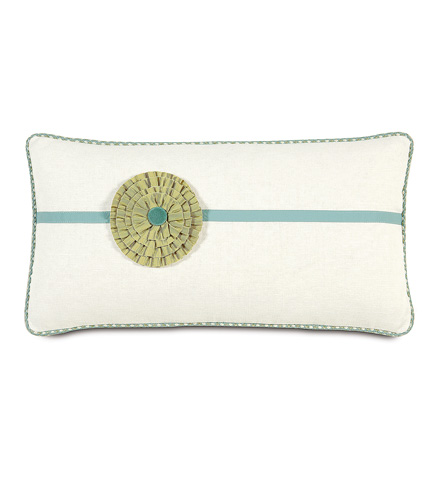 Image of Filly White  Pillow with Rosette