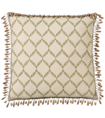 Image of Bartow Palm  Pillow with Beaded Trim