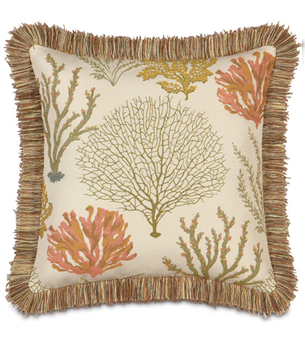 Image of Caicos Pillow with Brush Fringe