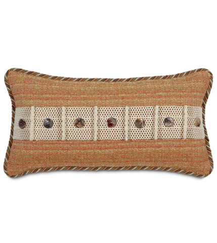 Image of Stark Sunset Pillow with Buttons