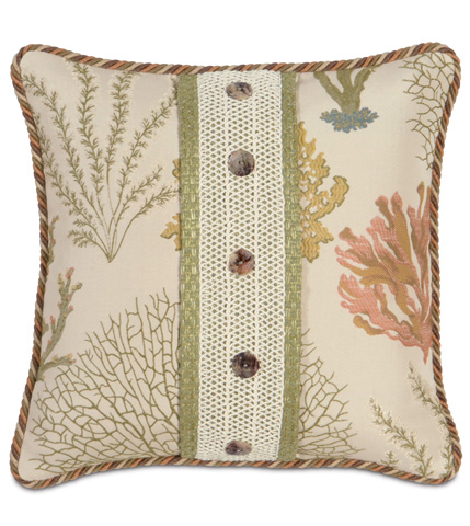 Image of Caicos Pillow with Buttons
