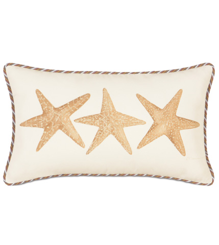 Image of Hand-Painted Starfish Pillow