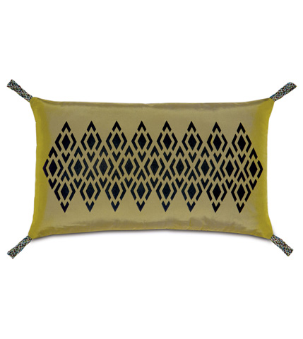 Image of Freda Chartreuse Pillow with Loops