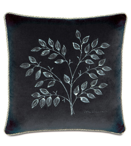 Image of Jackson Charcoal Hand-Painted Pillow