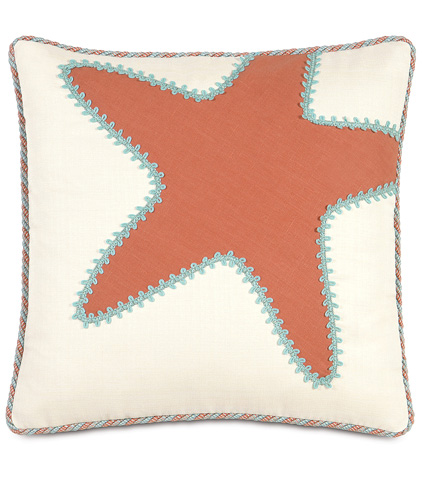 Image of Breeze Tangerine Starfish Pillow